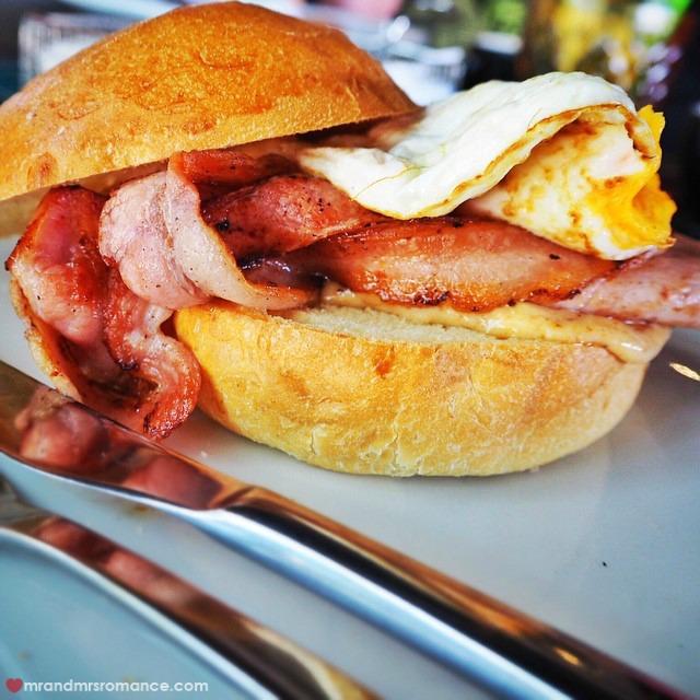 Mr & Mrs Romance - Insta Diary - 11 bacon roll!