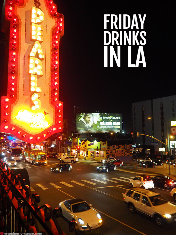 Mr and Mrs Romance - Friday Drinks in LA - Pearls West Hollywood Review