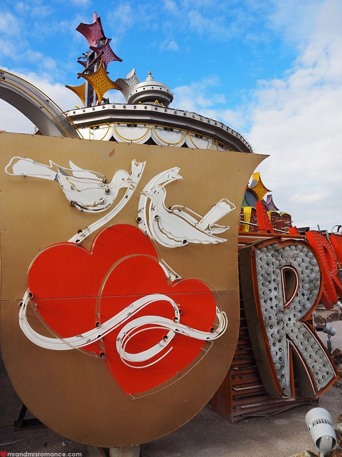 Mr and Mrs Romance - Things to do in Las Vegas - Neon Boneyard Museum