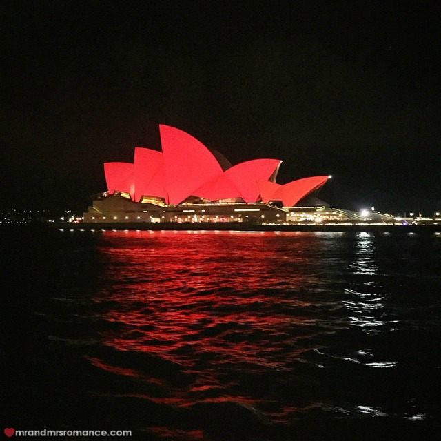 Mr & Mrs Romance - Insta Diary - 5 red Opera House