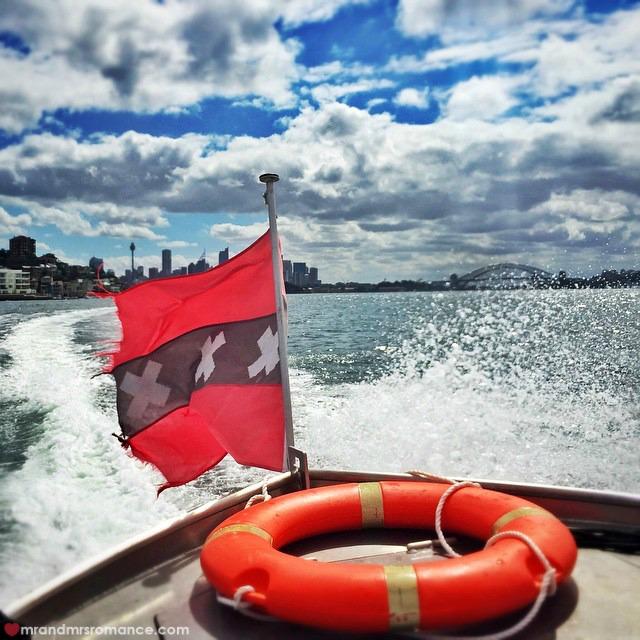 Mr & Mrs Romance Instagram Diary - 9 Lekker boats trip to Watsons Bay