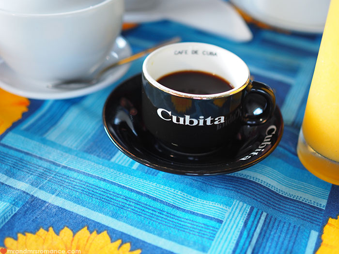 Mr & Mrs Romance - food in Cuba - Cuban coffee