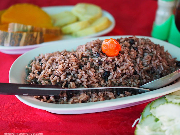 Mr & Mrs Romance - food in Cuba - rice and beans