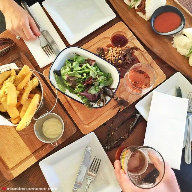 Mr & Mrs Romance - Insta Diary - 5 lunch at Customs House Bar wSonia