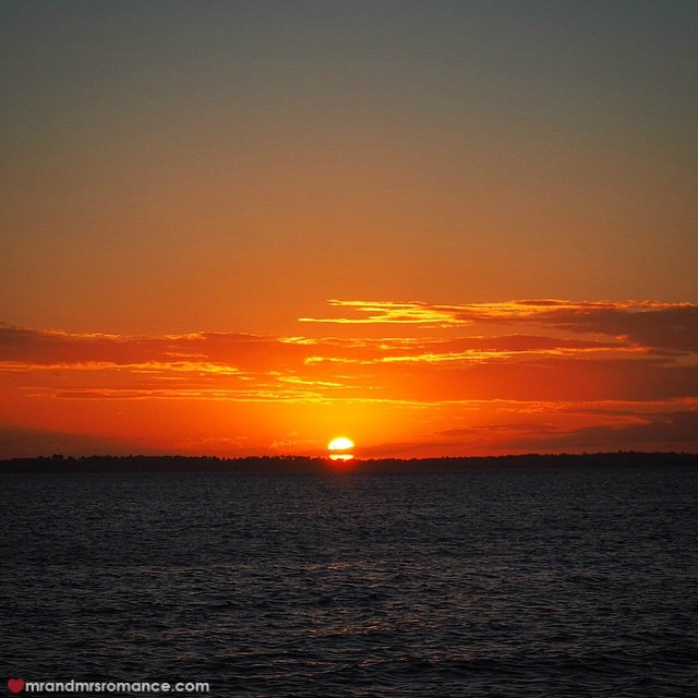 Mr & Mrs Romance - Insta Diary - 6 sunset from Fraser Island