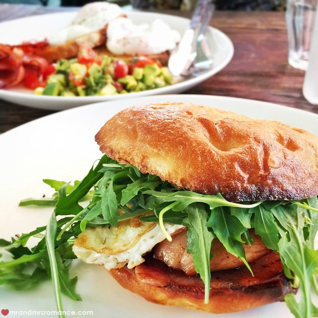 Mr & Mrs Romance - Insta Diary - 7 bacon egg roll Underwood Cafe