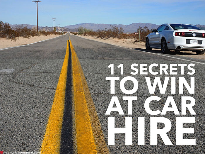 Mr and Mrs Romance - 11 secrets to win at car hire