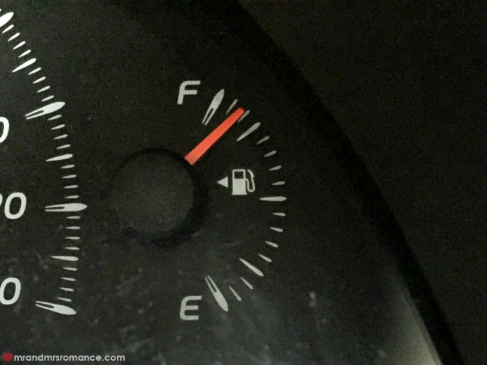 Mr & Mrs Romance - car hire - petrol shot