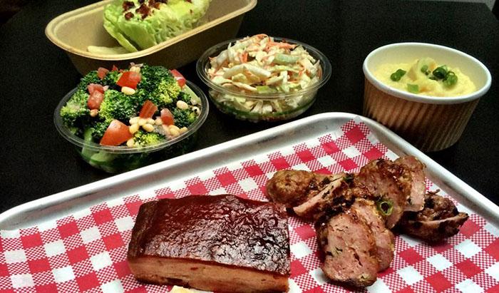 Mr and Mrs Romance - Porkd Surry Hills - pork and salads