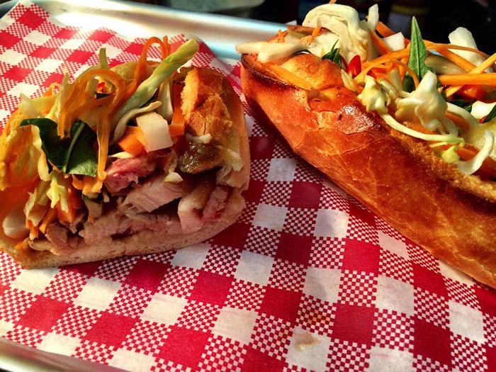 Mr and Mrs Romance - Porkd Surry Hills - pork rolls