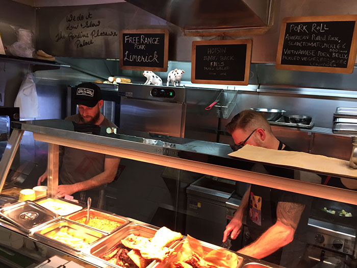 Mr and Mrs Romance - Porkd Surry Hills - the kitchen
