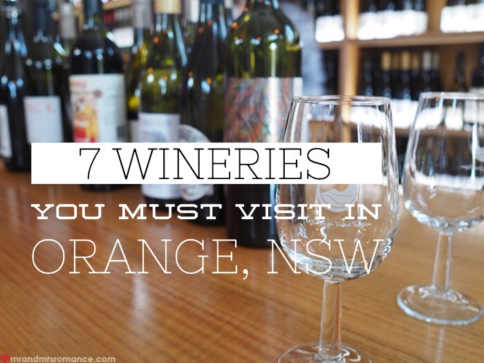 Mr and Mrs Romance - best wineries in Orange NSW title