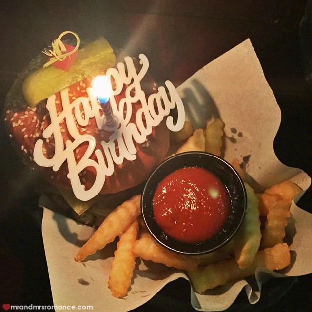 Mr & Mrs Romance - Insta Diary - 3 birthday burger