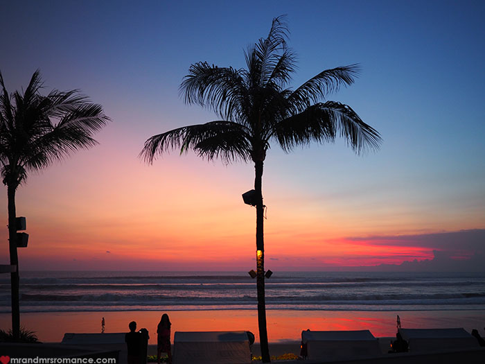 Mr & Mrs Romance - Potato Head Beach, Seminyak, Bali - sunset