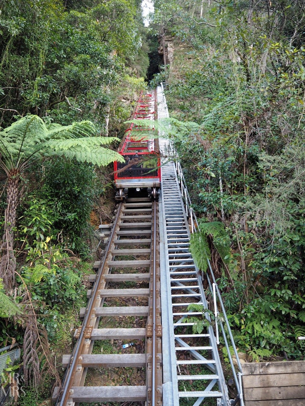 Blue Mountains Scenic World - Scenic Railway funicular train