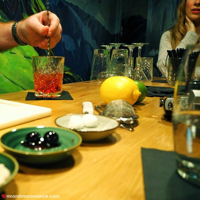 Mr & Mrs Romance - Insta Diary - 7 mixology class at Flying Trunk