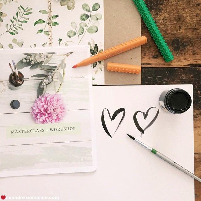 Mr & Mrs Romance - Insta Diary - 8CB1 caligraphy masterclass