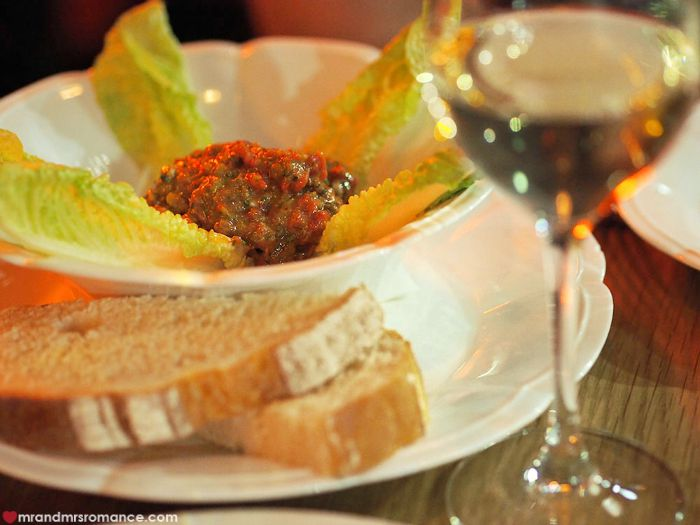 Mr & Mrs Romance - The Morrison, Sydney - steak tartare