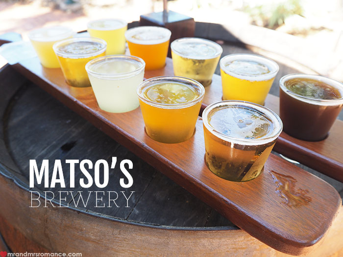Mr & Mrs Romance - Matso's Brewery, Broome - feature & beer paddle