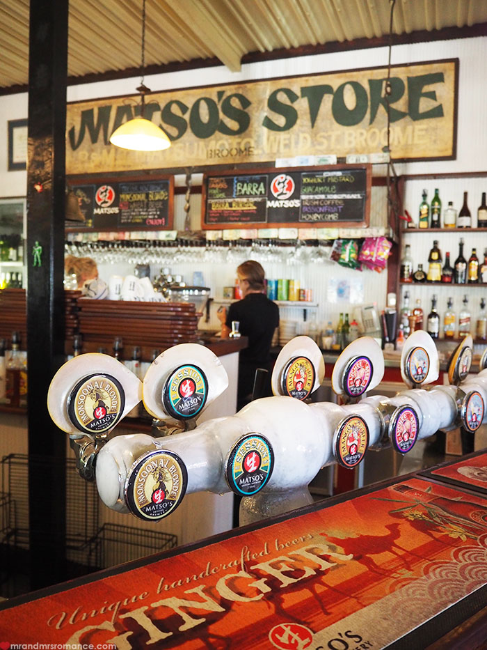 Mr & Mrs Romance - Matso's Brewery, Broome - oyster taps 1