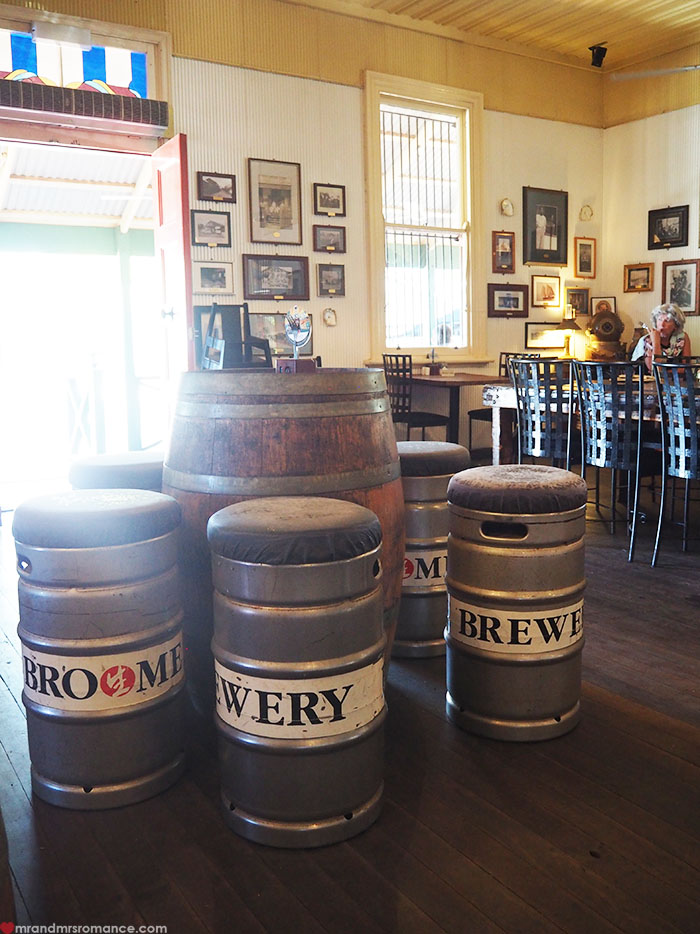 Mr & Mrs Romance - Matso's Brewery, Broome - keg stools and barrel table
