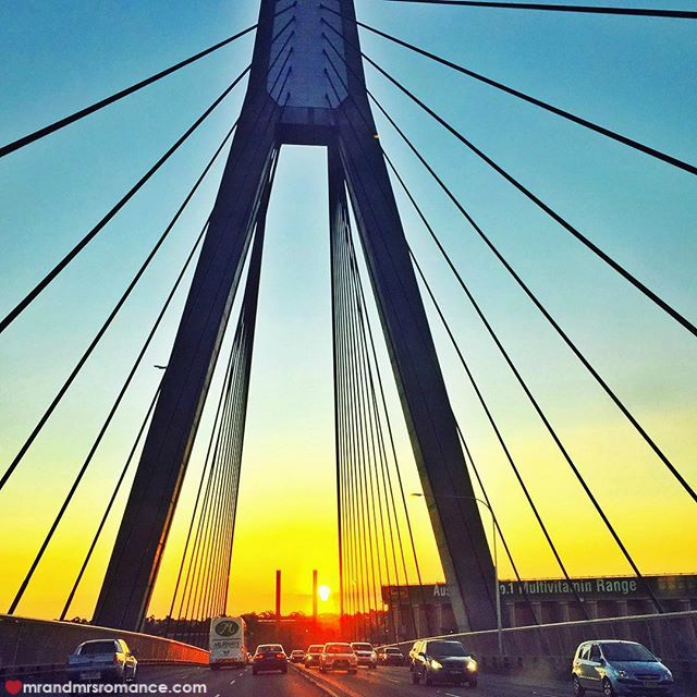 Mr & Mrs Romance - Insta Diary - 5 Anzac Bridge sunset
