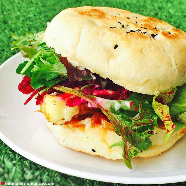 Mr & Mrs Romance - Insta Diary - 8 haloumi burger