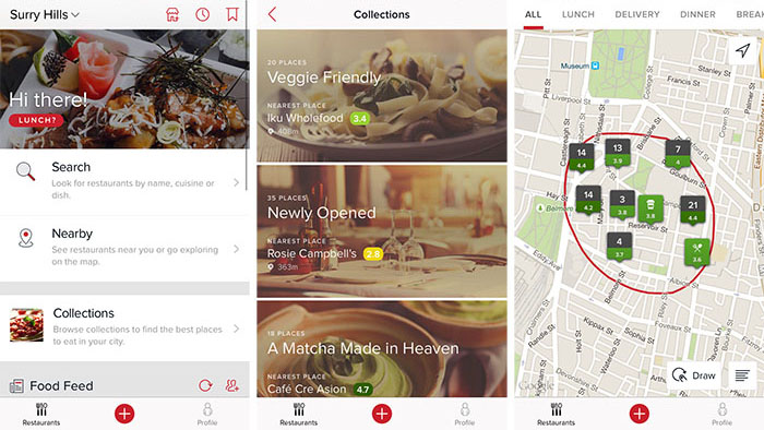Best travel apps - Zomato restuarant guide app