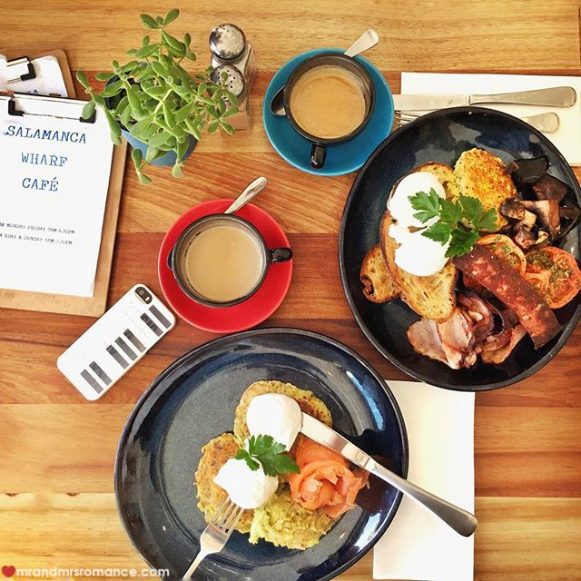 Mr & Mrs Romance - Insta Diary - 17 breakfast at Salamanca Wharf Cafe