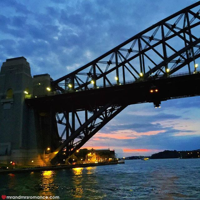 Mr & Mrs Romance - Insta Diary - 5 Harbour Bridge sunset
