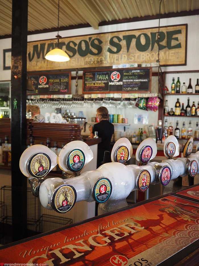 Mr & Mrs Romance - Broome on a Budget - Matso's beer