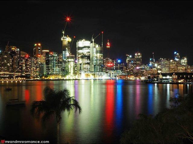 Mr & Mrs Romance - Insta Diary - 7 night shot of Sydney