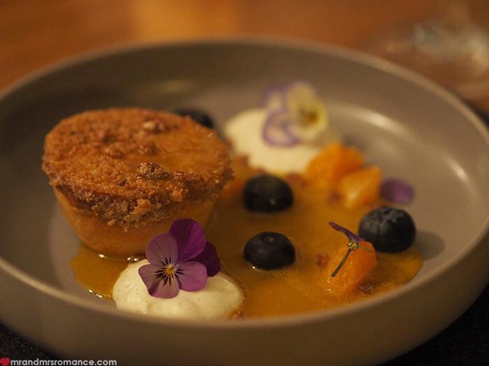 Mr & Mrs Romance - Restaurant Botanica - dessert tart