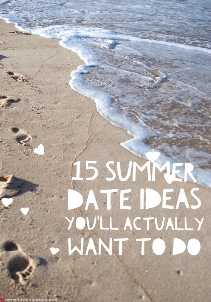 Mr & Mrs Romance - summer date ideas - title