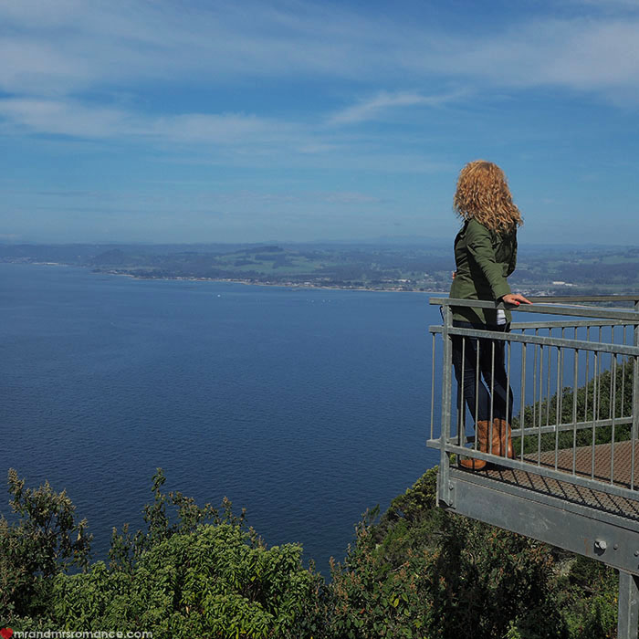 Mr & Mrs Romance - Spirit of Tasmania - lookout over north coast