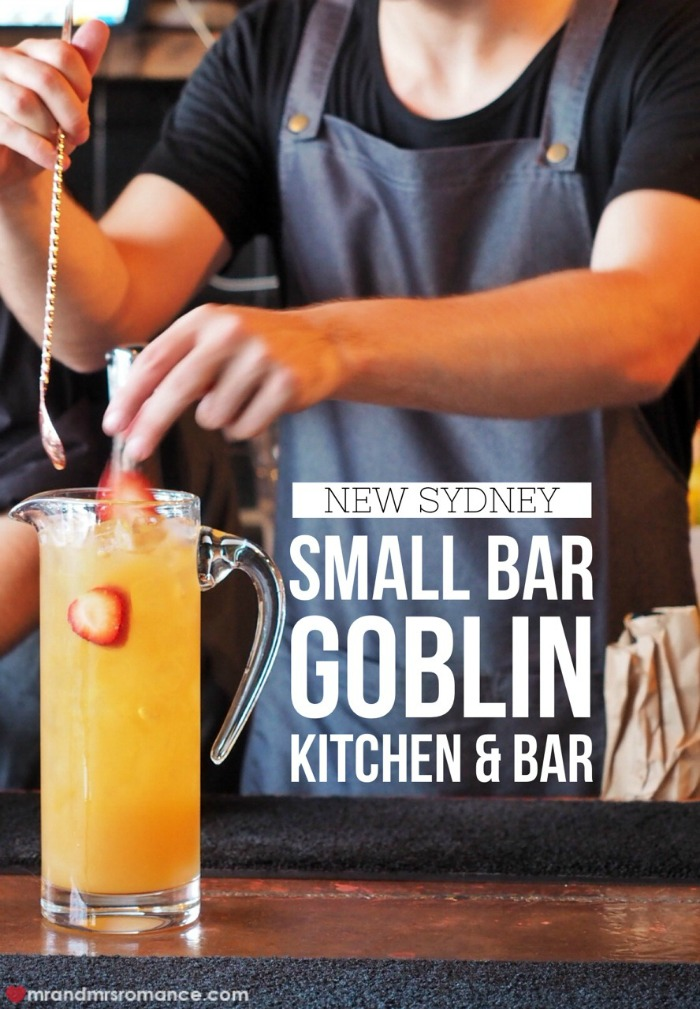 Mr & Mrs Romance - Sydney small bar Goblin bar - 1 title