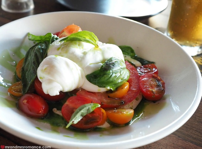 Mr & Mrs Romance - Sydney small bar Goblin bar - caprese salad