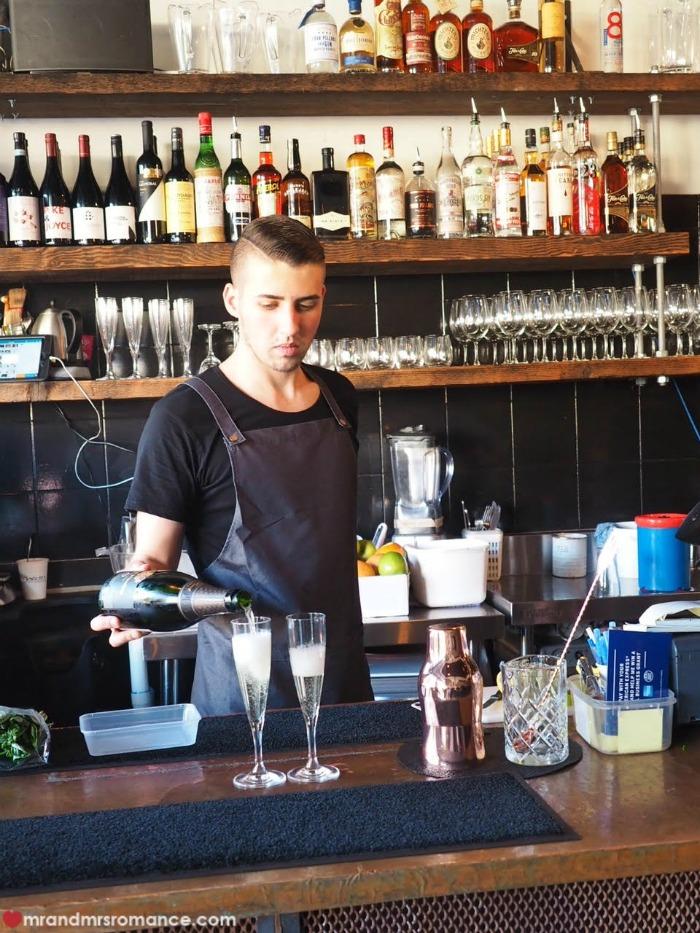 Mr & Mrs Romance - Sydney small bar Goblin bar - champagne