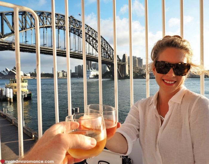Mr & Mrs Romance - Ferris wheel dining - cheers!