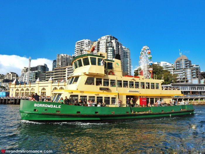 Mr & Mrs Romance - Ferris wheel dining - Sydney ferry