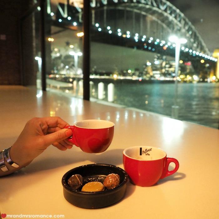 Mr & Mrs Romance - Ferris wheel dining - petite fours and coffee