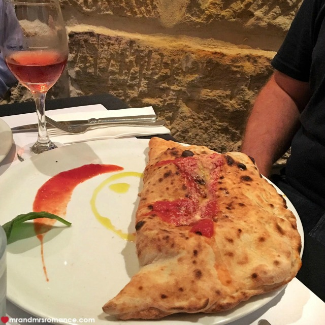Mr & Mrs Romance - Insta Diary - 2a calzone at Capello
