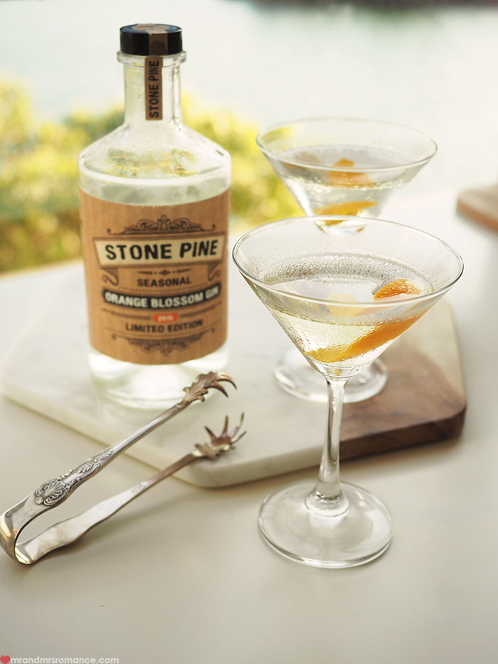 Mr and Mrs Romance - Orange Blossom is the new black martini cocktail recipe