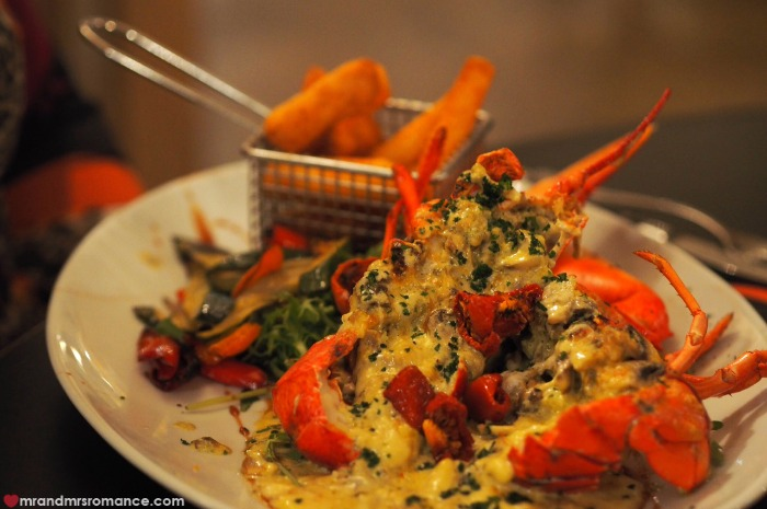 Mr & Mrs Romance - Rare Cow Steakhouse - lobster thermidor
