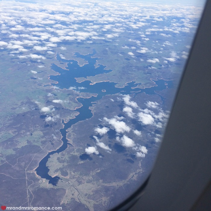 How to take photos from a plane window - Mr & Mrs Romance - river