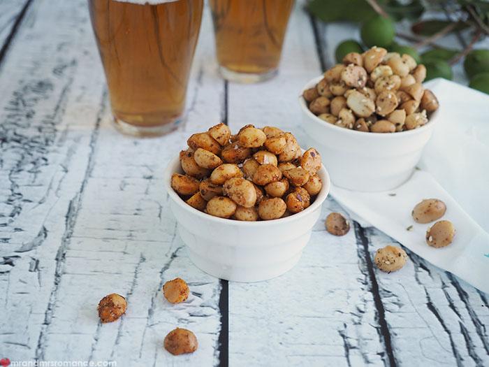 Mr & Mrs Romance - Macadamia snack recipe - beer snack