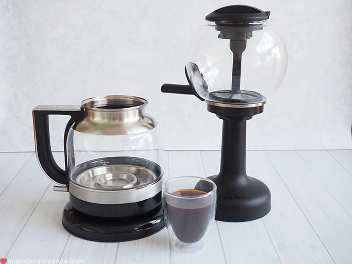 Mr & Mrs Romance - the perfect breakfast equation - KitchenAid Siphon coffee maker
