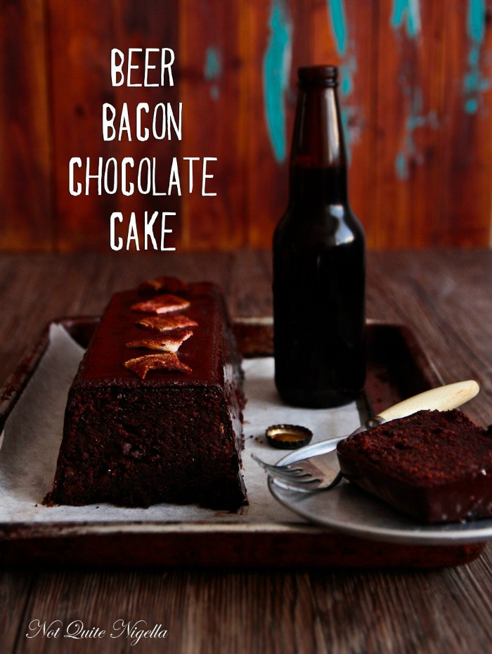Not Quite Nigella - beer bacon chocolate cake