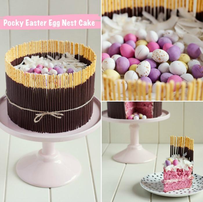 Love Swah - Pocky Easter egg nest cake 1