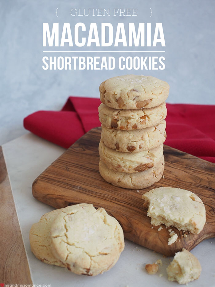 Mr and Mrs Romance - Gluten free macadamia shortbread cookie recipe